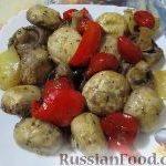 Овощное рагу с шампиньонами «Грибная поляна»