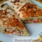 Лаваш с начинкой (домашняя шаурма с мясом и овощами)