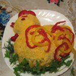 Салат в форме петуха / Простые рецепты