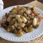 «Осеннее» рагу с топинамбуром, грибами и фасолью
